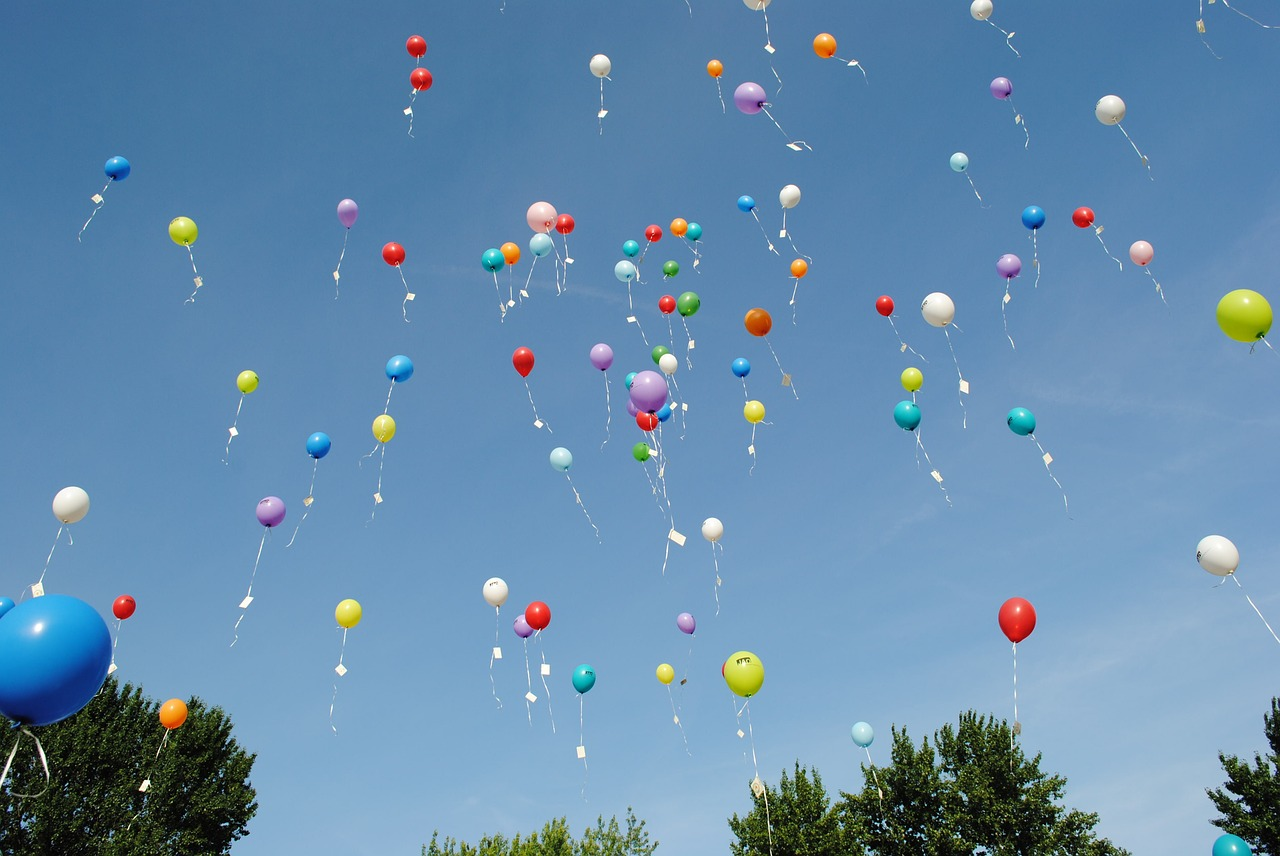 "/""In Loving Memory/"" Latex Ballons X 10 Sky Lanterne Memorial Wake Love"
